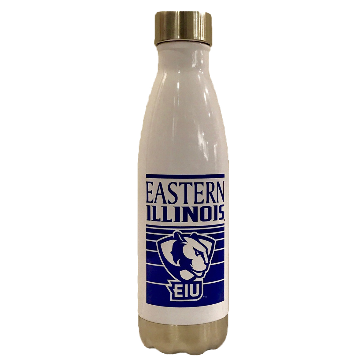 White and Royal Steel Water Bottle