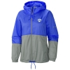 Royal and Grey Columbia Waterproof Wind Breaker