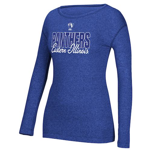 Cover Image For Women's Panthers Eastern Illinois Long Sleeve Crew Neck Tee