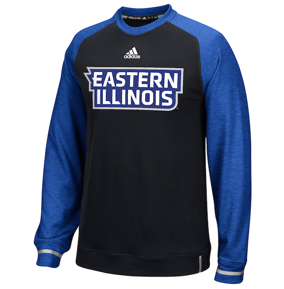 Image For Adidas - Eastern Illinois - Black/Blue Crew Fleece
