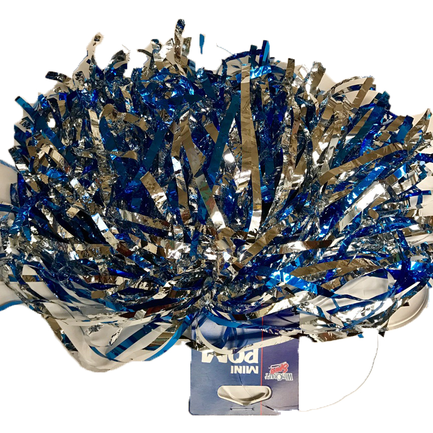 Image For Pom Pom with hair band - Royal and Silver