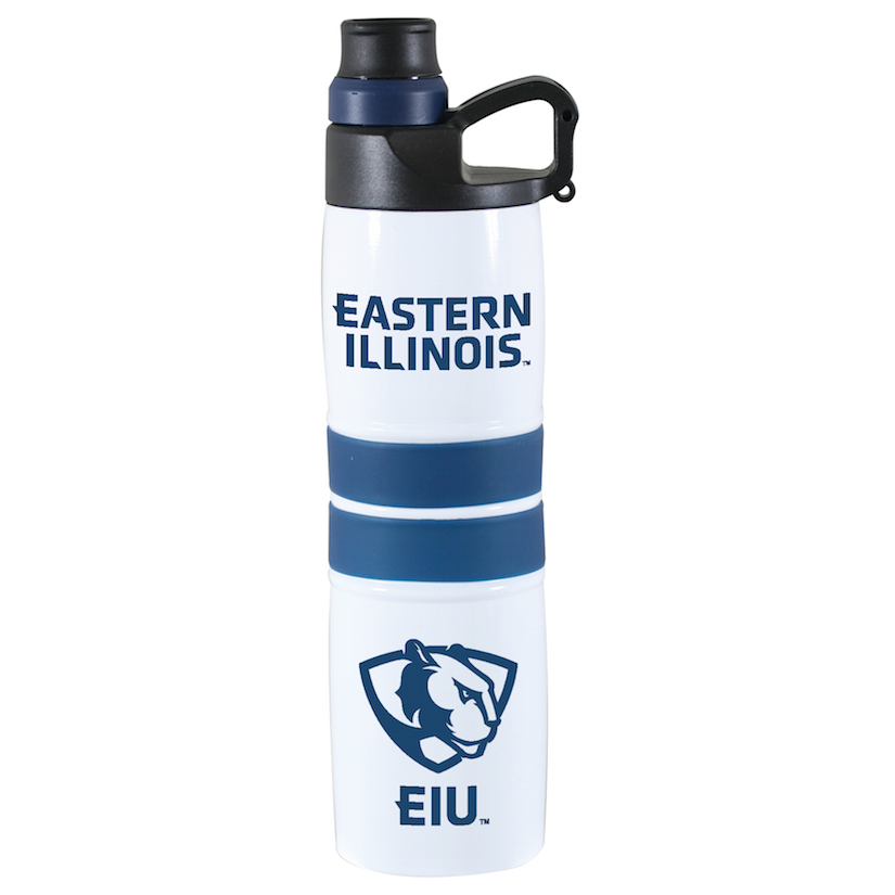 Cover Image For EIU White/Navy 20.9 fl. oz. Water Bottle