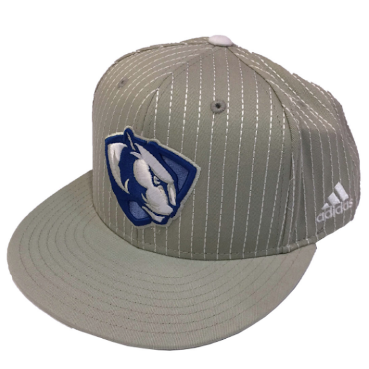 Image For Adidas Gray Striped Panther Logo Hat
