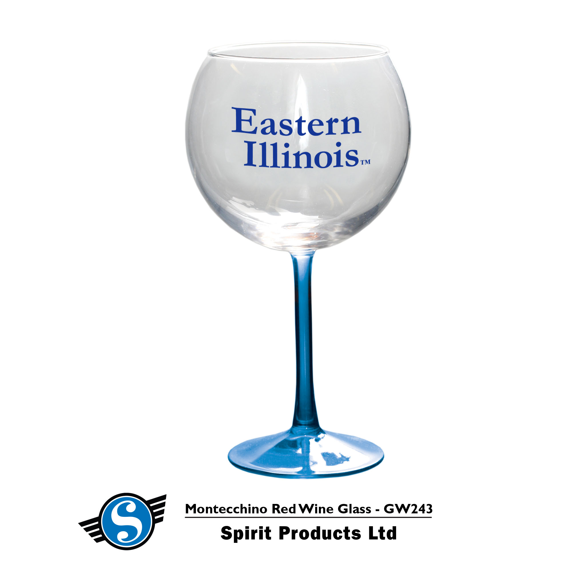 Image For Eastern Illinois Wine Glass