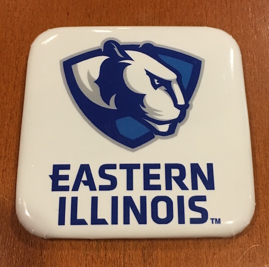Image For Eastern Illinois Square Magnet