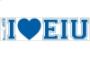 Image for BUMPER STICKER I <3 EIU