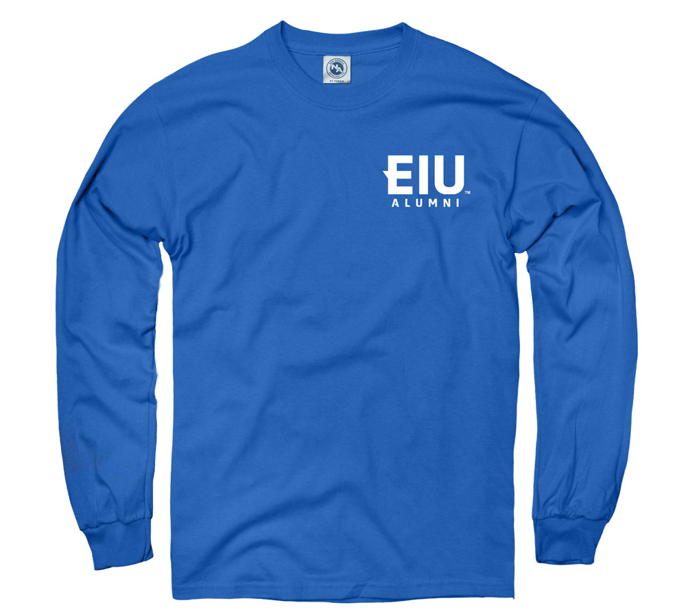 Image For Blue EIU Alumni Long Sleeve