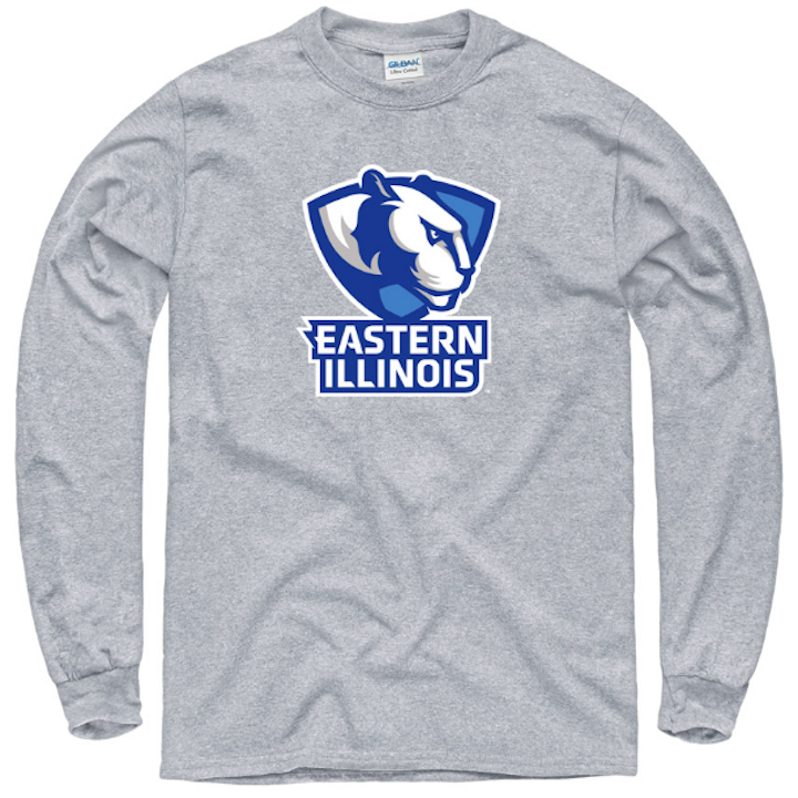 Image For Long-Sleeve Panther Logo Eastern Illinois