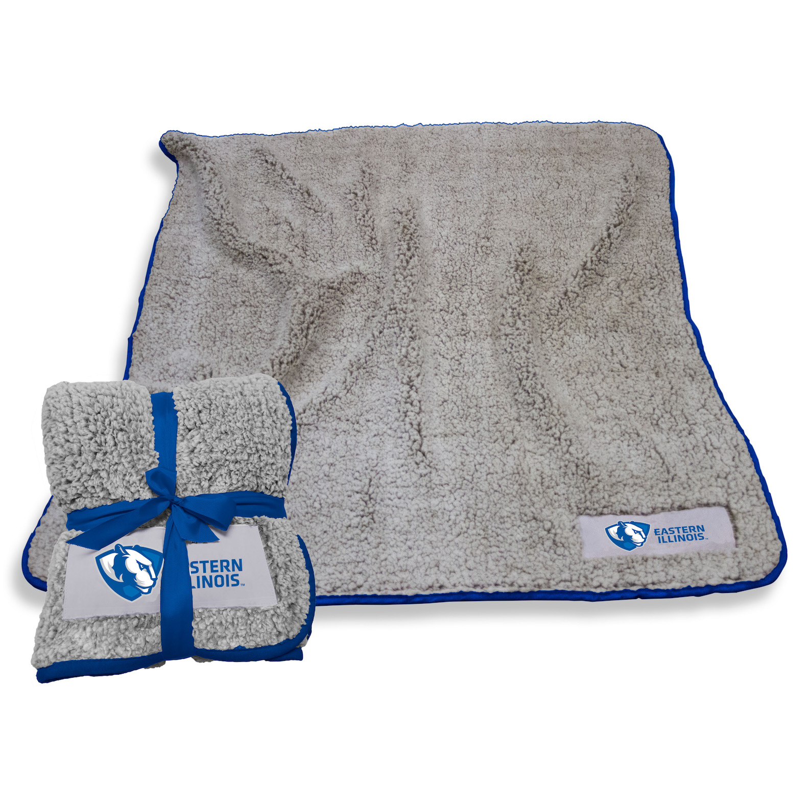 Cover Image For EASTERN ILLINOIS PANTHER LOGO SHERPA BLANKET
