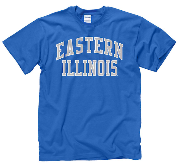 Image For EASTERN ILLINOIS ROYAL/GRAY LETTER TEE