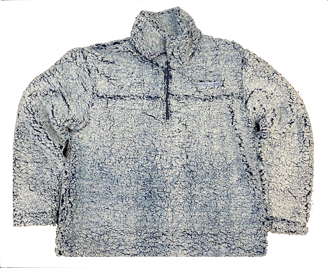 Image For EI FROSTY NAVY 1/4 ZIP SHERPA