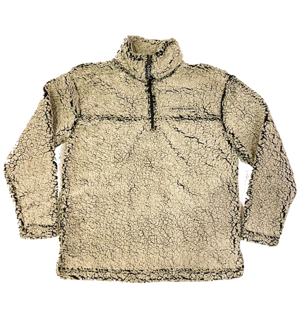 Image For Eastern Illinois Frosty Gray 1/4 Zip Sherpa