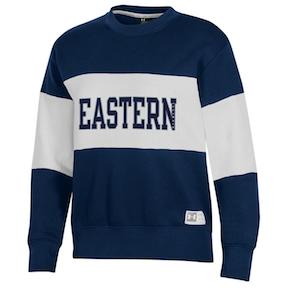 Image For EASTERN IL WHITE/NAVY CREW