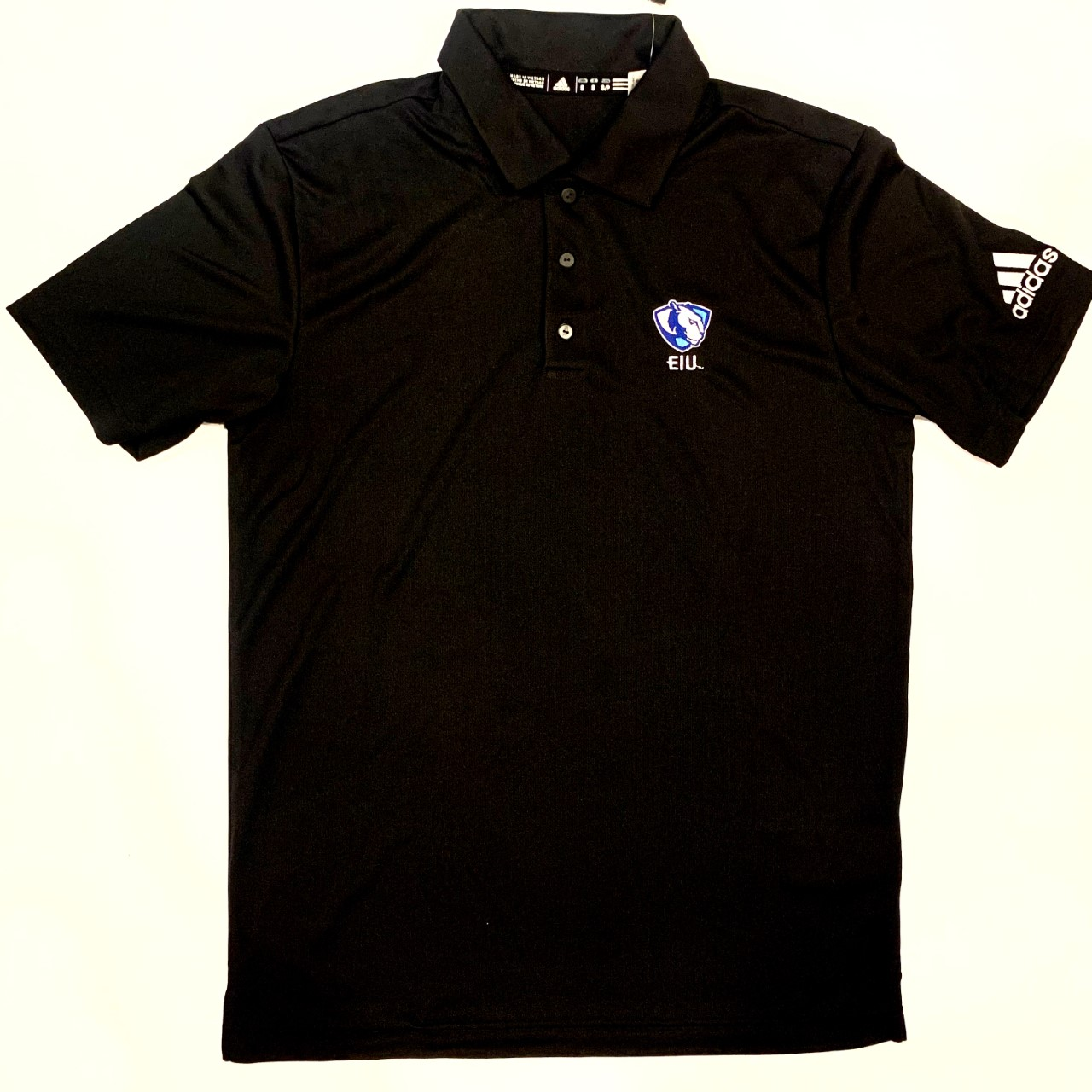 Cover Image For Adidas Black EIU Panther Logo Polo