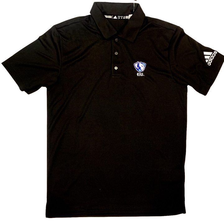 Image For Adidas Black EIU Panther Logo Polo