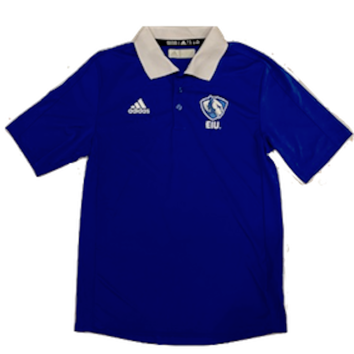 Image For Adidas White Collared Royal Polo