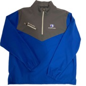 Image For Columbia Golf 1/4 Zip Jacket Royal/Gray